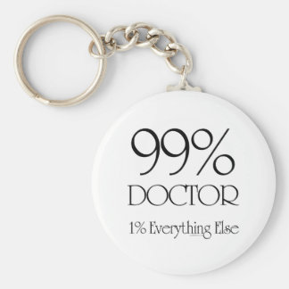 99% Doctor Basic Round Button Key Ring