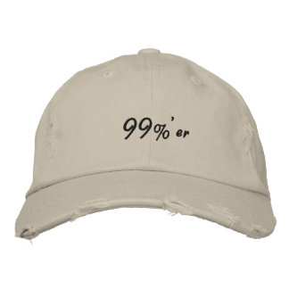 99% er Occupy Wall Street Cap Embroidered Hat
