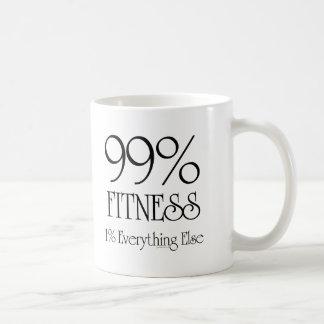 99% Fitness Basic White Mug