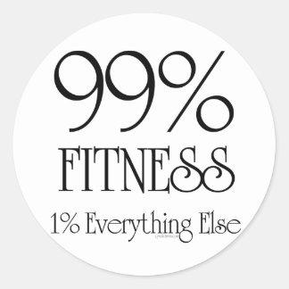 99% Fitness Round Sticker