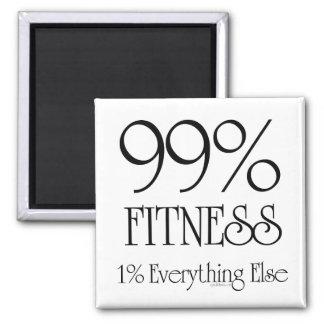 99% Fitness Square Magnet