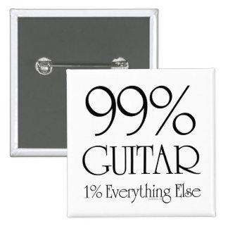 99% Guitar 15 Cm Square Badge
