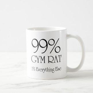 99% Gym Rat Basic White Mug