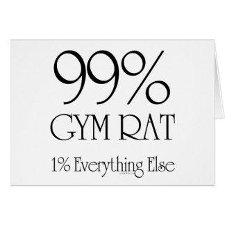 99% Gym Rat Greeting Card