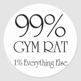 99% Gym Rat Round Sticker