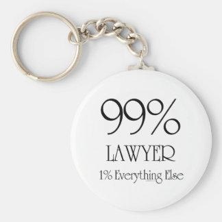 99% Lawyer Key Ring