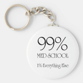 99% Med School Keychain