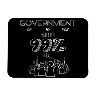 99% occupy wall street movement rectangle magnet