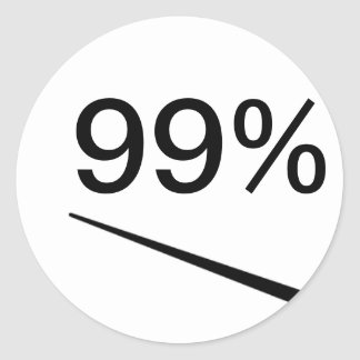 99 Percent Round Sticker