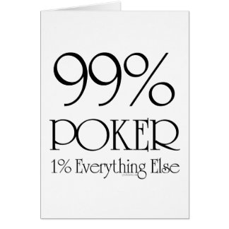 99% Poker Card