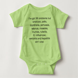 99 problems but childhood diseases ain't one baby bodysuit
