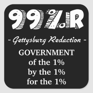 99%r Gettysburg Address Square Stickers