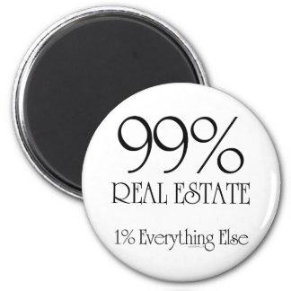 99% Real Estate 6 Cm Round Magnet