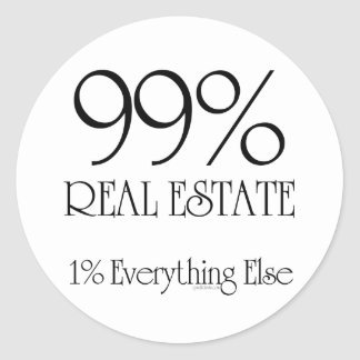 99% Real Estate Classic Round Sticker