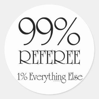 99% Referee Round Sticker