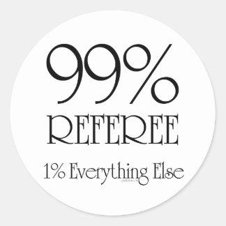 99% Referee Classic Round Sticker