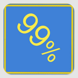 99% road sign sticker