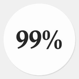 99% ROUND STICKER
