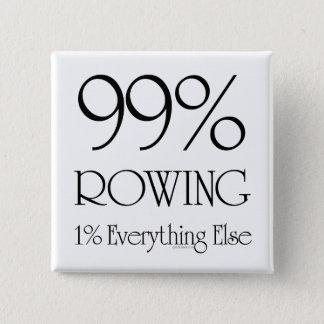 99% Rowing 15 Cm Square Badge