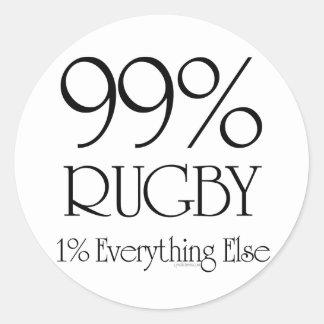 99% Rugby Round Sticker