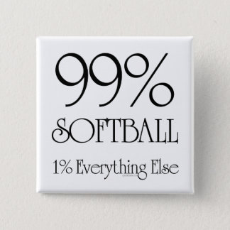 99% Softball 15 Cm Square Badge