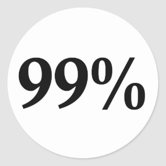 99% ROUND STICKERS