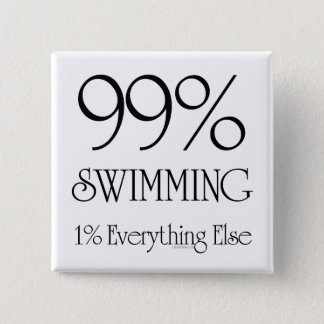 99% Swimming 15 Cm Square Badge