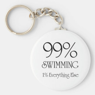99% Swimming Basic Round Button Key Ring