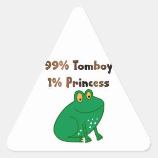 99% Tomboy 1% Princess Triangle Sticker
