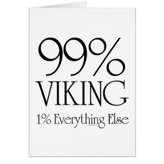 99% Viking Greeting Card