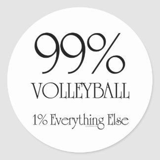 99% Volleyball Classic Round Sticker