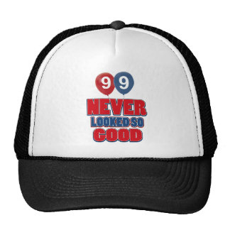 99 year old birthday designs cap