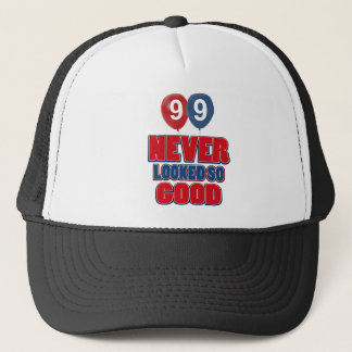 99 year old birthday designs trucker hat