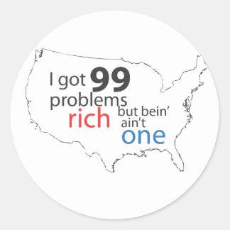 99Problems.ai Round Sticker