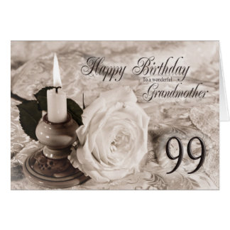 99th Birthday card for Grandmother