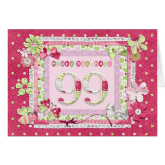 99th birthday scrapbooking style card