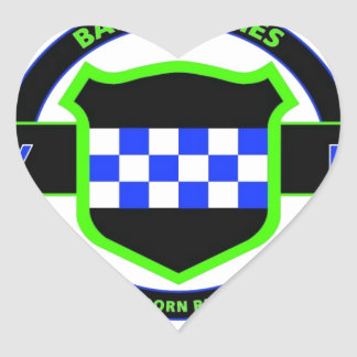 """99TH INFANTRY DIVISION """"CHECKERBOARD"""" DIVISION HEART STICKERS"""