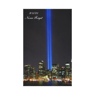 9 11 01 Never Forget Gallery Wrapped Canvas