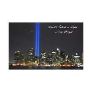 9 11 01 Never Forget - wrapped canvas Stretched Canvas Prints