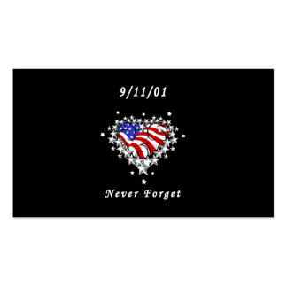 9/11/01 Patriotic Tattoo Double-Sided Standard Business Cards (Pack Of 100)