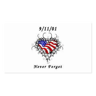 9/11/01 Patriotic Tattoo Business Card