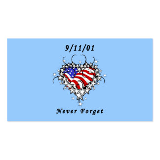 9/11/01 Patriotic Tattoo Business Card Template