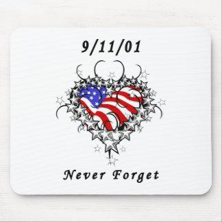 9/11/01 Patriotic Tattoo Mouse Pad