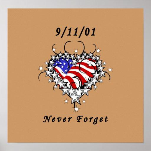 9/11/01 Patriotic Tattoo Posters