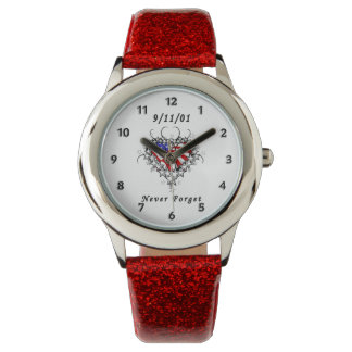 9/11/01 Patriotic Tattoo Wrist Watches