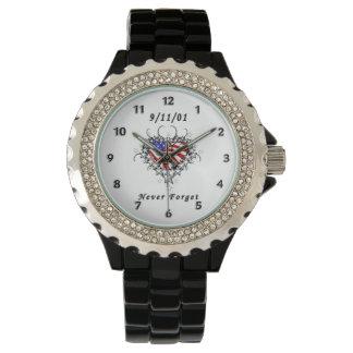 9/11/01 Patriotic Tattoo Wristwatches