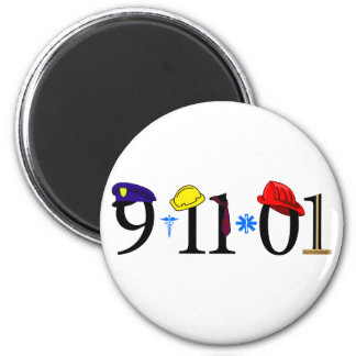 9-11-01 - Remember 6 Cm Round Magnet