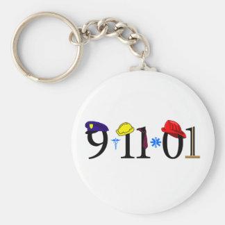 9-11-01 - Remember Basic Round Button Key Ring