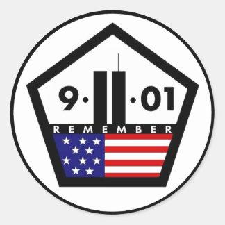 9-11-01 ROUND STICKER