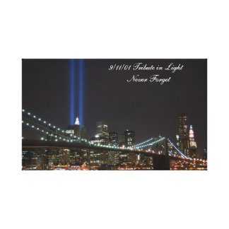 9 11 01 Tribute in Light wrapped canvas Gallery Wrapped Canvas